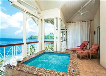 Apartment Ocean View II with Hot Tub in St Lucia