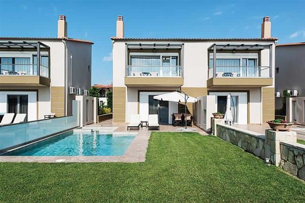 Toroneos Villas II - Heated Pool from James Villas