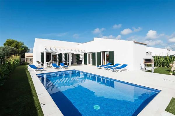 Villa S'Arbocer in Menorca